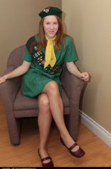 Girl Scout In Pantyhose - Picture 1