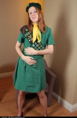 Girl Scout In Pantyhose - Picture 2